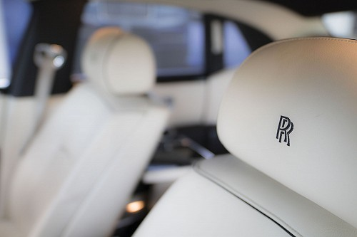 Rolls Royce Ghost seat embroidery