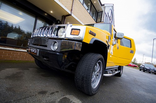 Hummer H2 from low angle